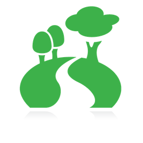 green park and trees icon