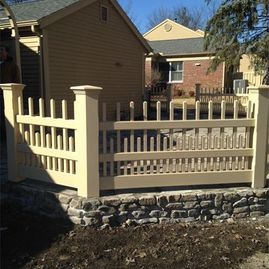 vinyl fence installed by Sturgeon Stone & Landscape