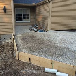 driveway being worked on by Sturgeon Stone & Landscape