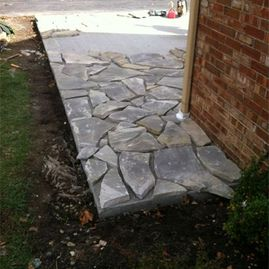 stone walkway by Sturgeon Stone & Landscape