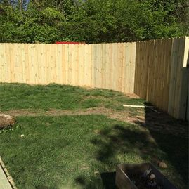 new fence by Sturgeon Stone & Landscape