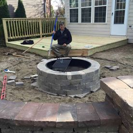 patio and well being installed by Sturgeon Stone & Landscape